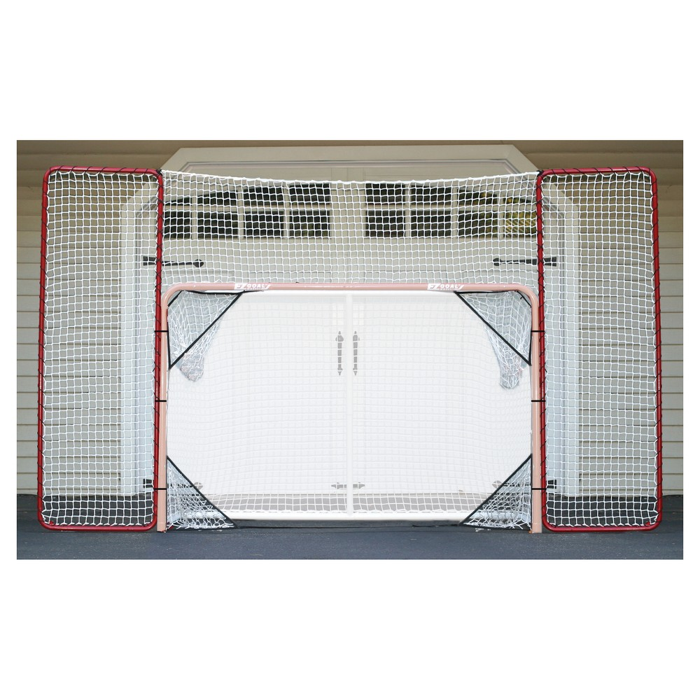 EZ Goal Hockey Backstop Rebounder with Targets, Red