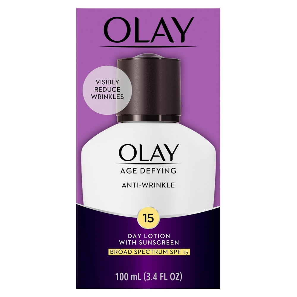Image of Olay Age Defying Anti-Wrinkle Day Lotion With SPF 15 - 3.4 oz