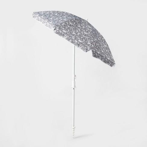 6' Beach Umbrella Sand Anchor White - Sun Squad™