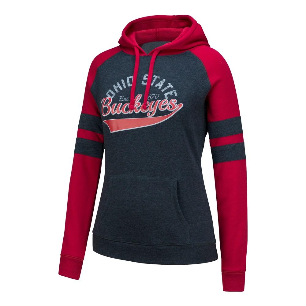 NCAA Ohio State Buckeyes Women's Spiral Hoodie Sweatshirt - M, Black