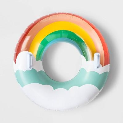 "Rainbow Swim Tube 33"" Water Float - Sun Squad™"