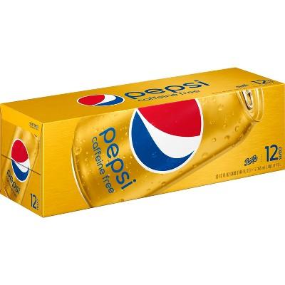 Pepsi Cola Caffeine Free Soda - 12pk/12 fl oz Cans
