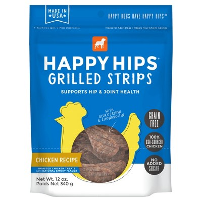 Happy Hips Grilled Strips Grain-Free Chicken Dog Treats - 12oz