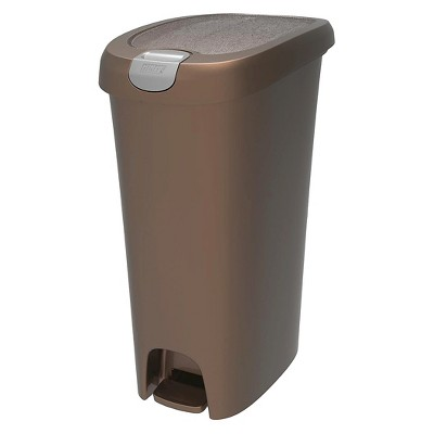 Hefty 11.3 Gallon Slim Step On Trash Can with Easy Open Lid
