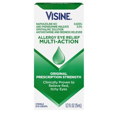 Visine-A Eye Allergy Relief Eye Drops .5-oz.