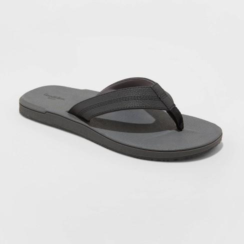 Men's Ted Flip Flop Sandals - Goodfellow & Co™ Black - image 1 of 3