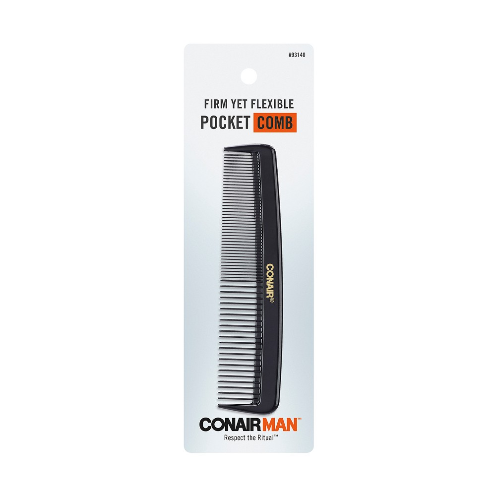 "Image of ""Conair for Men 4 7/8"""" Pocket Comb - Black"""