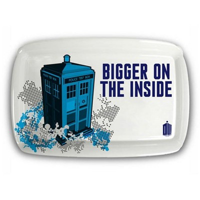 """Seven20 Doctor Who TARDIS """"Bigger on the Inside"""" Serving Tray"""