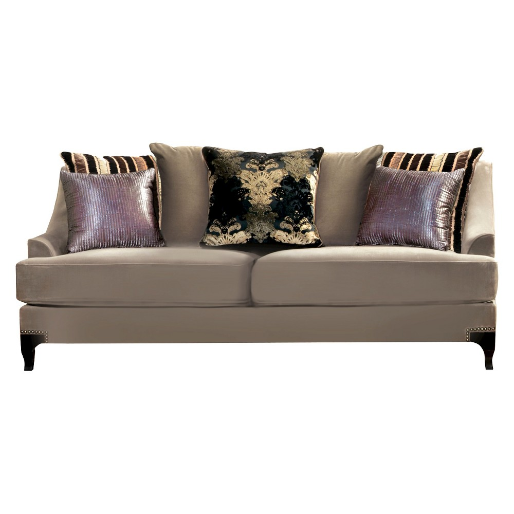 ioHomes Joran Modern Upholstered Sofa in Taupe Gray, Taupe Gray Opaque