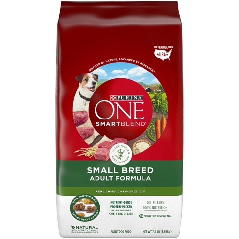Purina One - Small Breed Adult Formula - Lamb - Dry Dog Food - 7.4lb - image 1 of 4