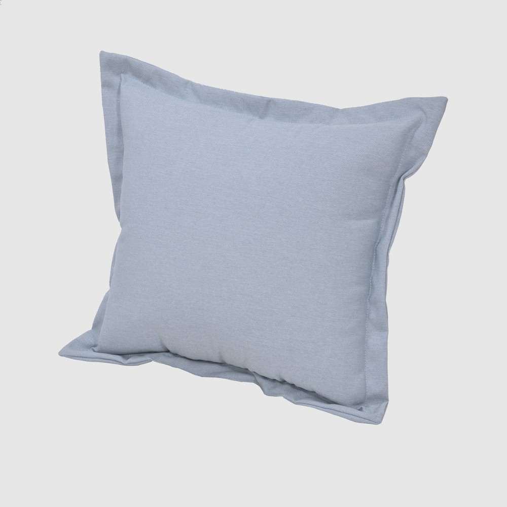 Square Outdoor Pillow Chambray - Threshold, Blue