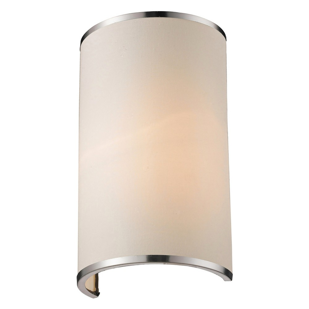 Sconce Wall Lights with White Linen Glass - Z-Lite