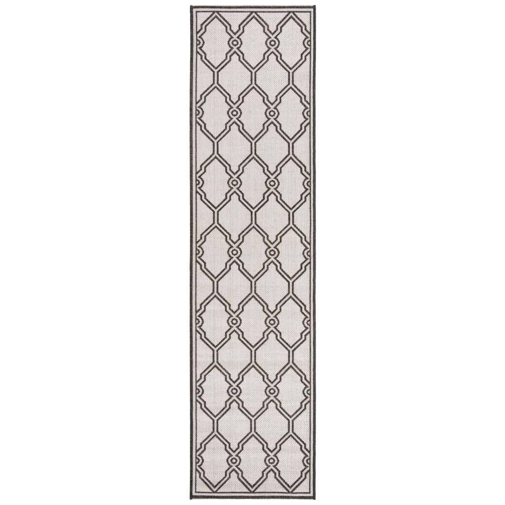 2X8 Geometric Loomed Runner Light Gray/Charcoal - Safavieh Top