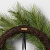 """24"""" Faux White Pine Wreath with Metal Bell - Hearth & Hand™ with Magnolia - image 2 of 3"""