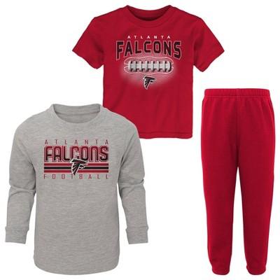 NFL Atlanta Falcons Toddler Boys' Gametime Fun T-Shirt & Pants Set 3pk