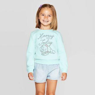 Toddler Girls' PAW Patrol Fleece Crewneck Sweatshirt - Blue 3T