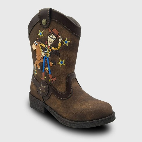 Toddler Boys' Toy Story Western Boots - Brown - image 1 of 3