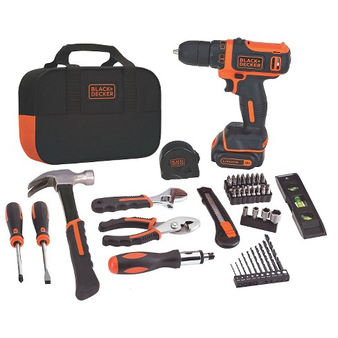 BLACK+DECKER 12V Max Lithium Drill/Driver Project Kit Power Tool Sets - image 1 of 4