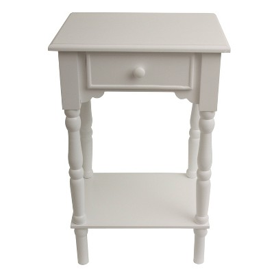 Jane 1 Drawer Accent Table White - Décor Therapy