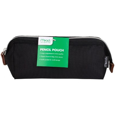 Mead Travel Zippered Pencil Pouch - Black