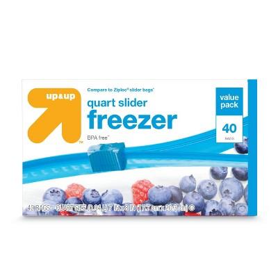 Food Storage Bags: up & up Slider Freezer