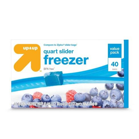Slider Quart Freezer Bags - 40ct - Up&Up™ - image 1 of 1
