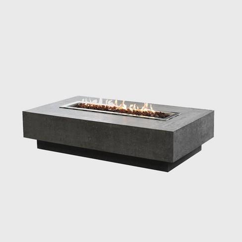 Rectangular Concrete Propane Fire Table