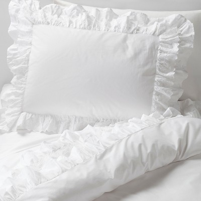 white petticoat duvet sham set simply shabby chic target rh target com simply shabby chic duvet cover set simply shabby chic duvet cover set