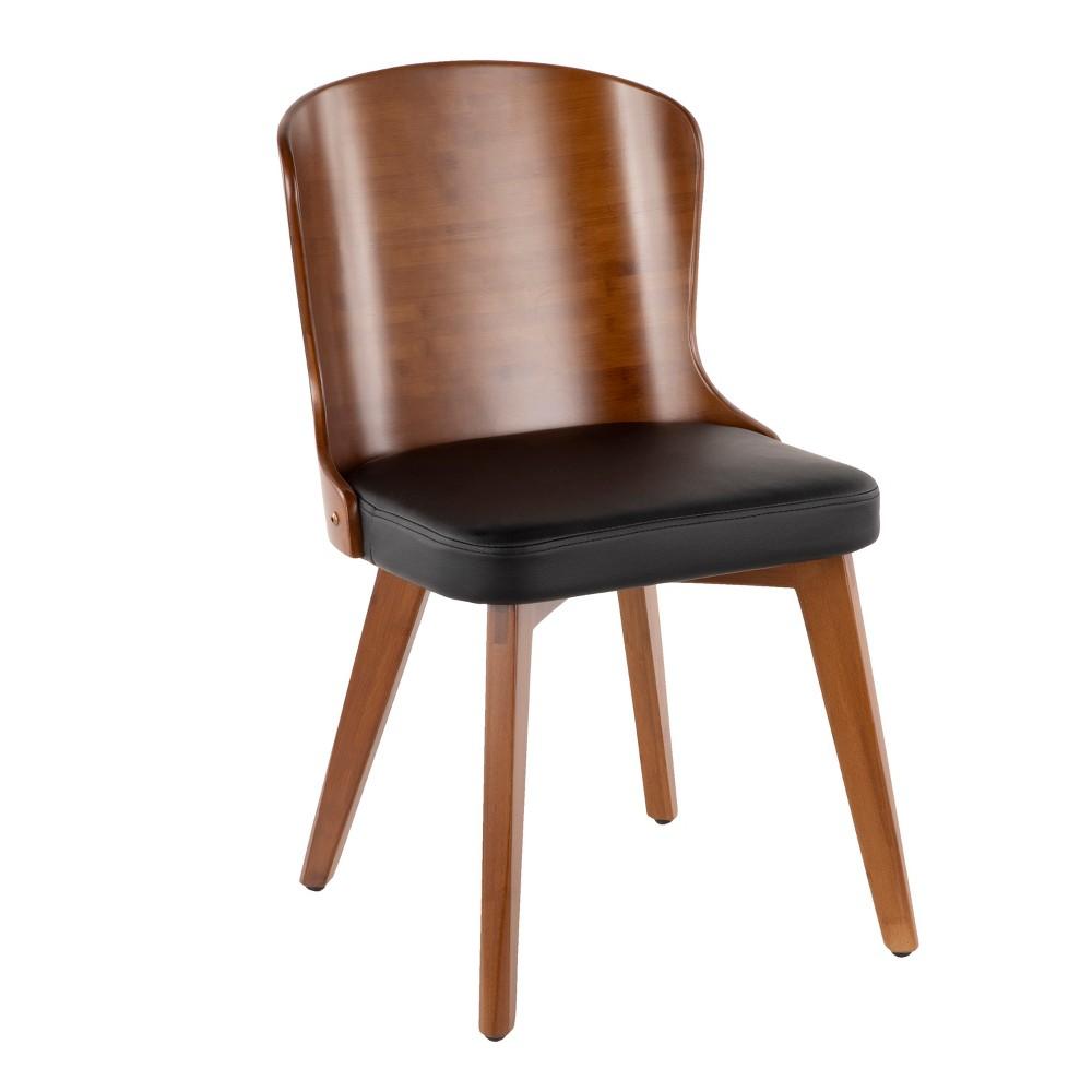 Bocello Mid-Century Modern Chair Black/Walnut (Black/Brown) - LumiSource