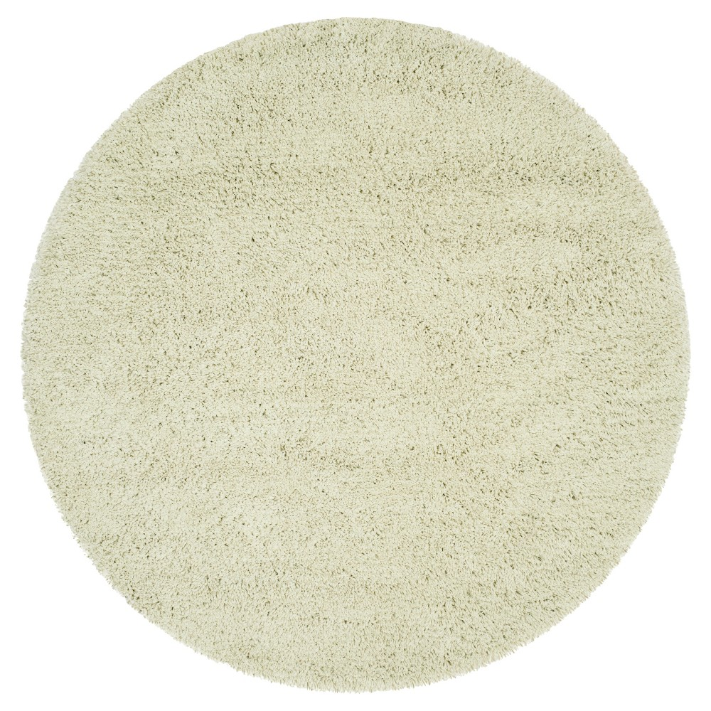 Lime (Green) Solid Shag and Flokati Tufted Round Area Rug 6' - Safavieh