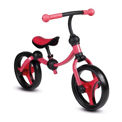 smarTrike Lightweight & Adjustable Kids Walking Running Balance 2 in 1 Learning Stages Training Bike w/ Puncture Free EVA Wheels for Ages 2 to 5, Red
