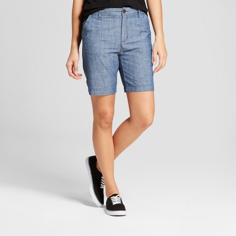"Women's 9"" Chino Shorts - A New Day™ Chambray - image 1 of 3"