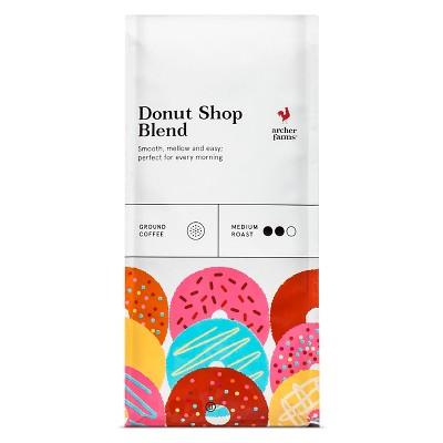 Donut Shop Blend Medium Roast Ground Coffee - 12oz - Archer Farms™