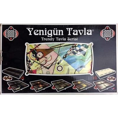 """20"""" Kandinsky Art Decoupage Backgammon Board Game"""