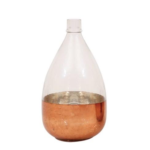 "Round Glass Balloon Vase - Antique Copper (7"") - image 1 of 4"