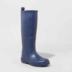 Women's Totes Cirrus Claire Tall Rain Boots - Navy 8