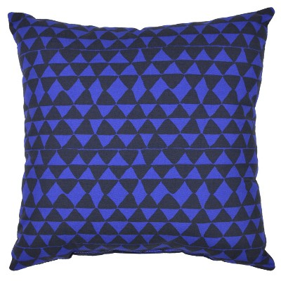 Outdoor Throw Pillow Square - Micro Triangle Blue - Project 62™