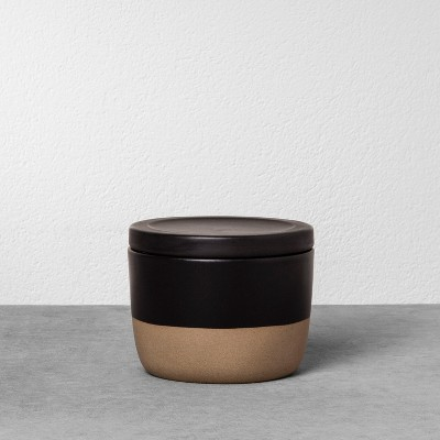 Stoneware Storage Canister Small - Black - Hearth & Hand™ with Magnolia
