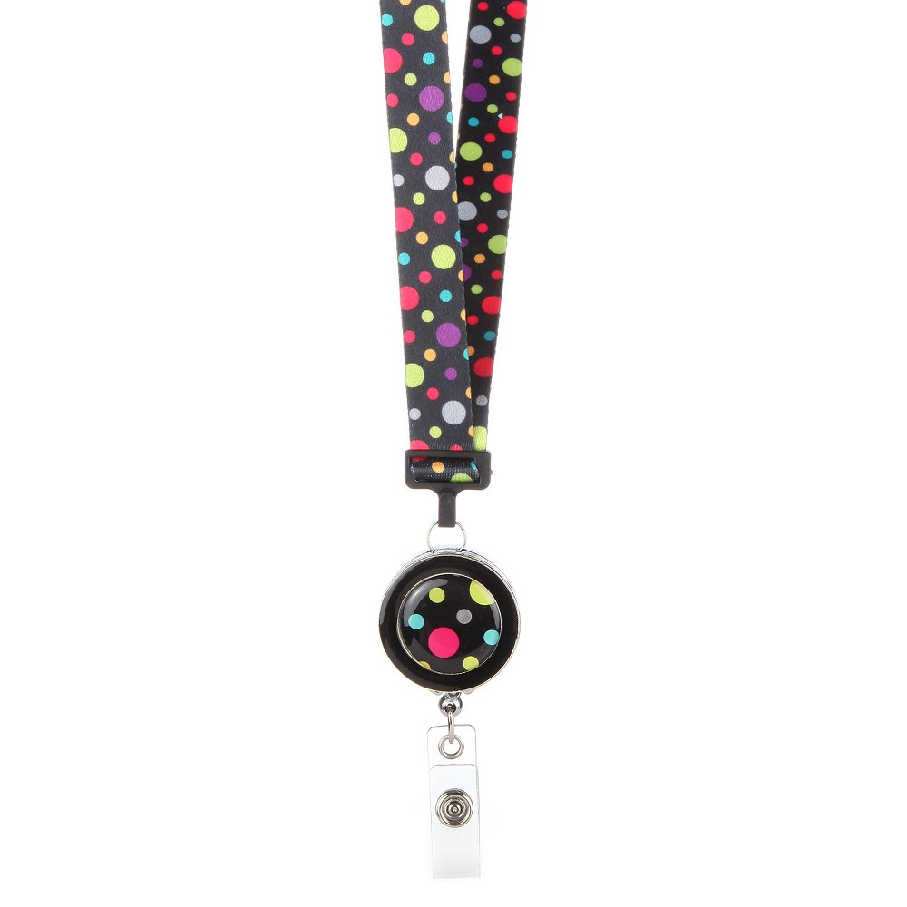 ID Avenue Ribbon Lanyard Polka, Adult Unisex, Size: Large, Multi-Colored
