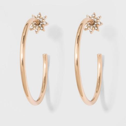 SUGARFIX by BaubleBar Minimal Hoop Earrings - Gold