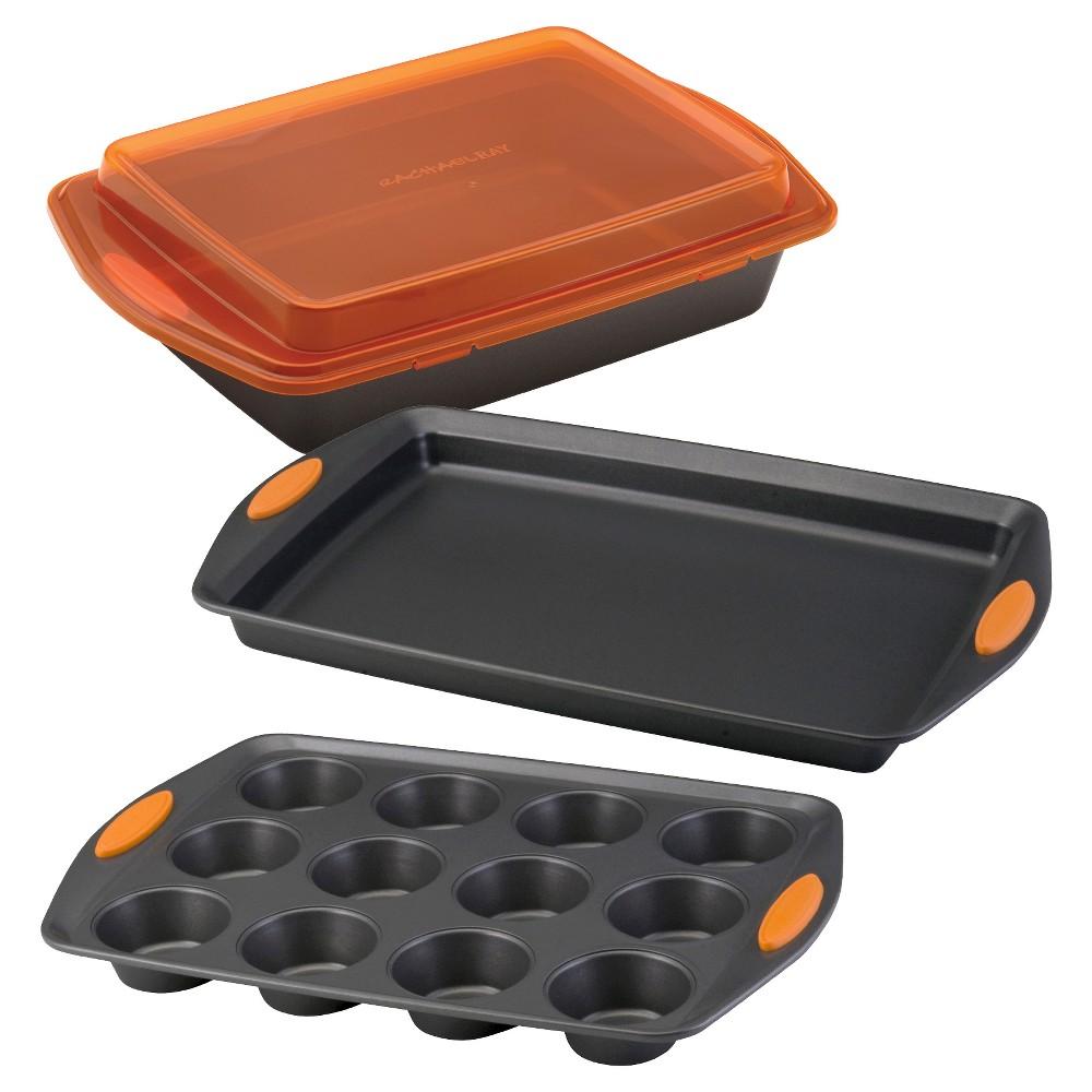 Rachal 4 Pc Bakeware Set Orange