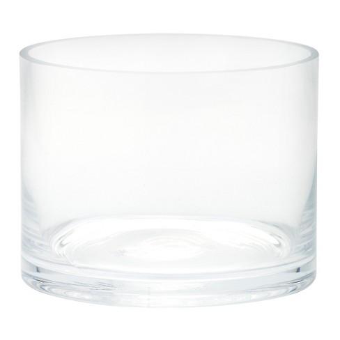 "4""x5"" Glass Cylinder Vase - Diamond Star - image 1 of 2"