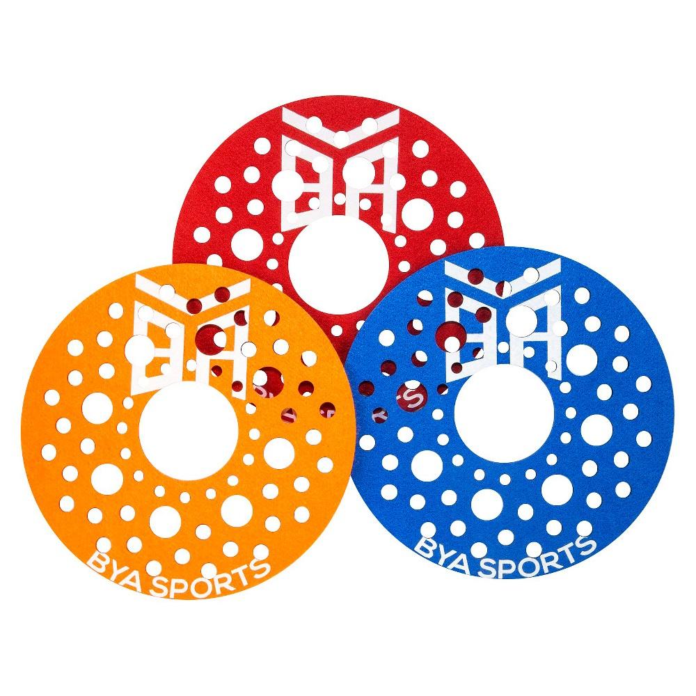 Bya Sports 3-Pack Sky Shredder Flying Disc - Blue/ Yellow/ Red, Red/Orange/Blue