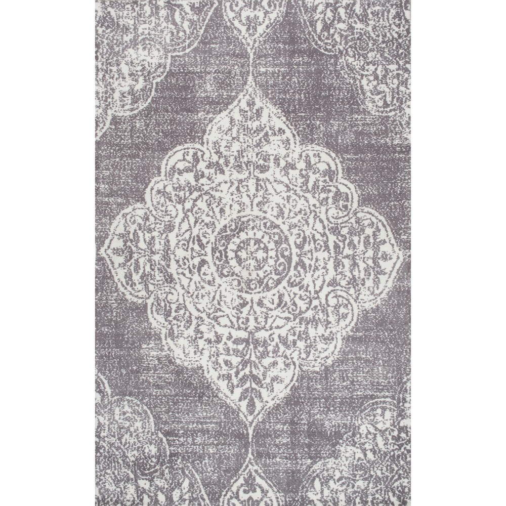 Sterling Gray Abstract Tufted Area Rug 5 X8 Nuloom