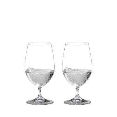 Riedel 6416/21 Vinum Dishwasher Safe Short Stemmed Crystal Gourmet Water Beverage All Purpose Drinking Glass, 13 Ounces (2 pack)