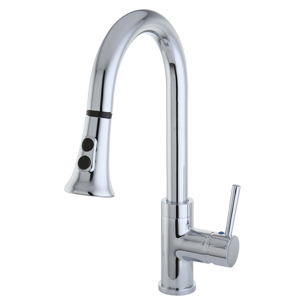 Image of Gourmetier Single Handle Faucet with Pull Down Spout Chrome - Kingston Brass