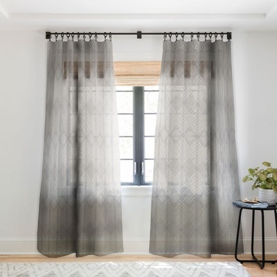 Iveta Abolina Arlene Ash Single PanelSheer Window Curtain - Deny Designs