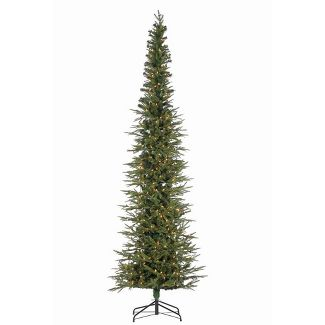 9ft Sterling Tree Company Natural Cut Slim Lincoln Pine Artificial Christmas Tree