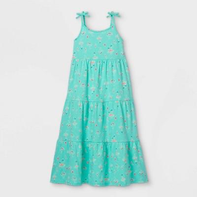 Girls' Printed Knit Sleeveless Maxi Dress - Cat & Jack™ Mint