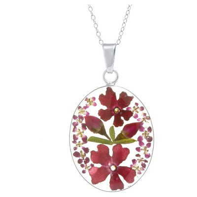 Fashion Necklace Sterling Red